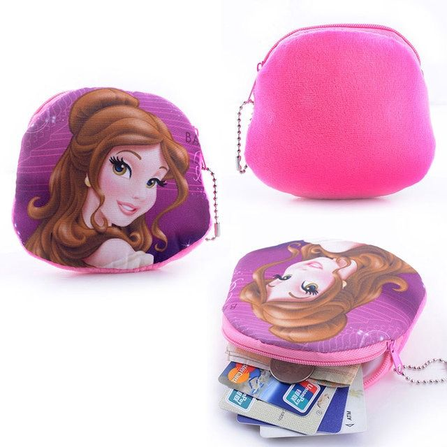 2016 Hot Sale Purse Girl Wallet Ladies Novelty Princess Pretty Face Zipper key case coin purses fashion women Buggy Bag