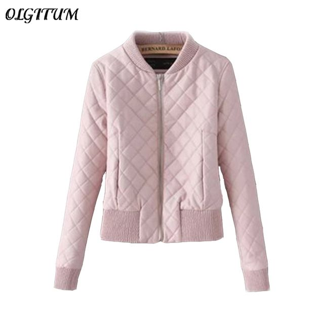 2018 Autumn winter new women Jacket Women Bomber Jacket Coat Slim Short Pink PU Jacket Women loose Jackets