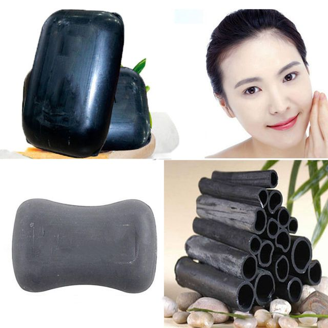 Natural Bamboo Making Black Soap Active Rnergy Skin Bleaching Soap Healthy Care
