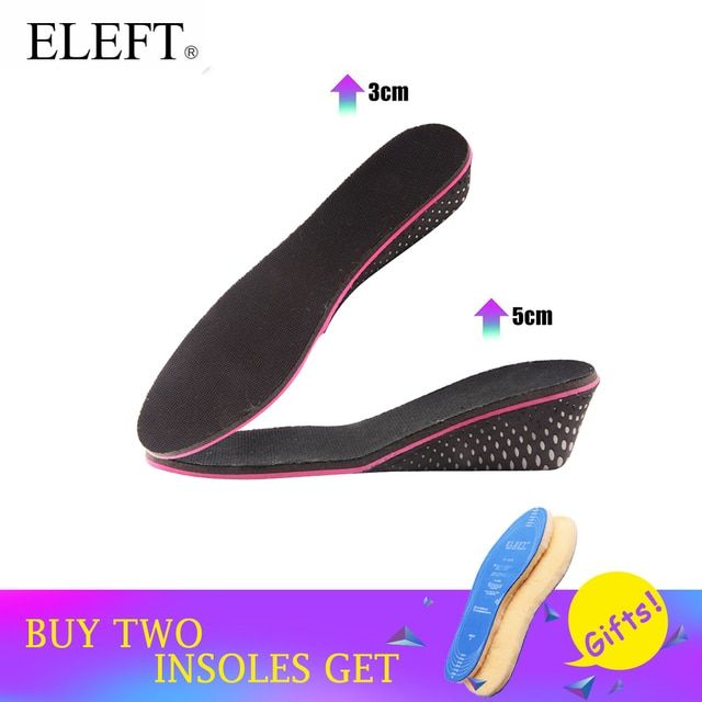 ELEFT Height increase memory foam adjustable elevator shoe cushion insoles foot pad lift 3 5 cm up for women men shoes 1 pair