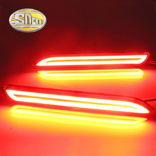 SNCN Multi-function LED Reflector Lamp Rear Fog Lamp Rear Bumper Light Brake Light For Toyota Vellfire 2005 - 2014