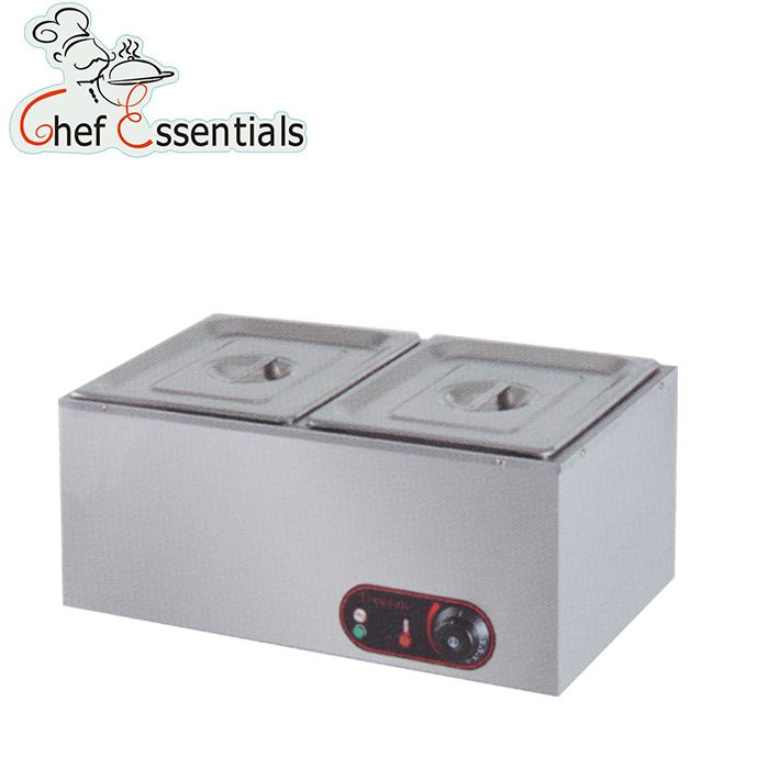 PKJG-EH2 Electric stainless steel two pans counter bain marie for food warmer