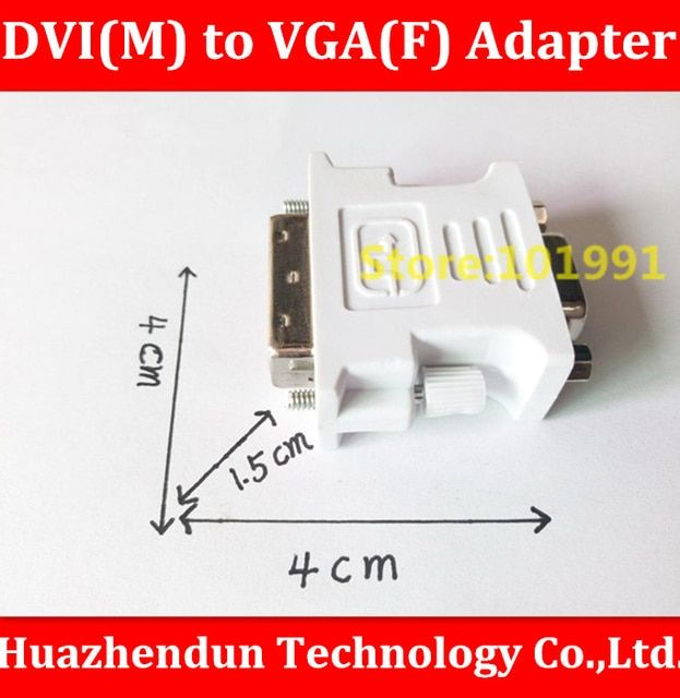 Free Shipping 10PCS  DVI  24Pin+5Pin Male Convert to 15Pin VGA Female Adapter Converter for PC HDTV