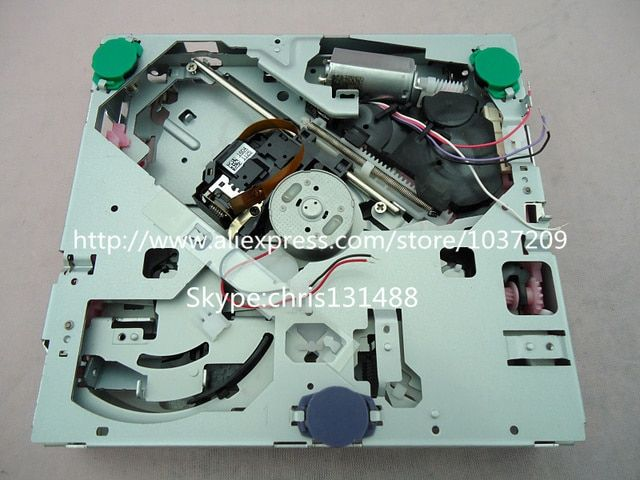 Original KCP9C loader DXM9550 DXM9050 DXM9071 DXM9072V single CD mechanism without PCB for VW RENAULT car CD radio 2PC