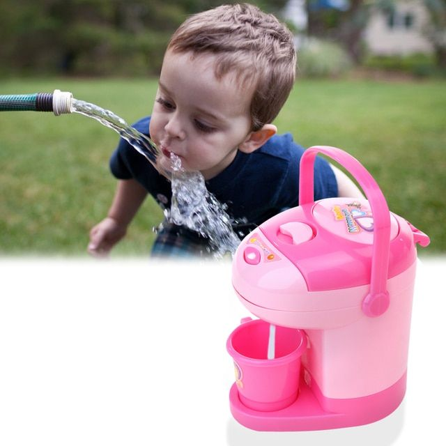 Children pretend play environmental friendly plastic kitchen toys simulation mini appliances toy children mini water dispenser
