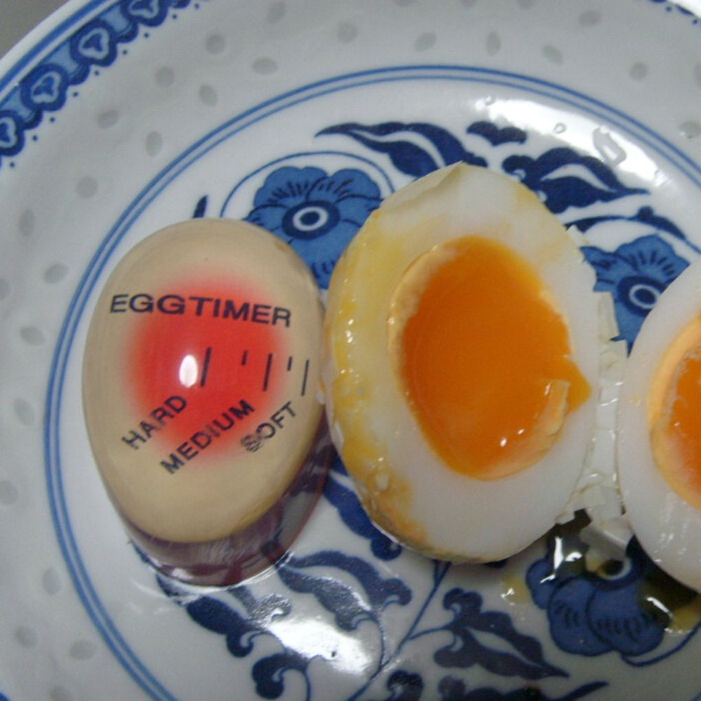 Resin Material Colour Changing Egg Timer Perfect Boiled Eggs By Temperature Kitchen Helper