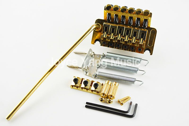 New Gold Floyd Rose Lic Electric Guitar Tremolo Bridge Double Locking System Free Shipping Wholesales
