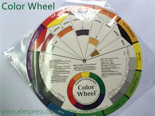 1x Tattoo Pigment Color Wheel Chart Supplies Art Paper Mix Studio Helpful Round Tattoo Inks Color Wheels