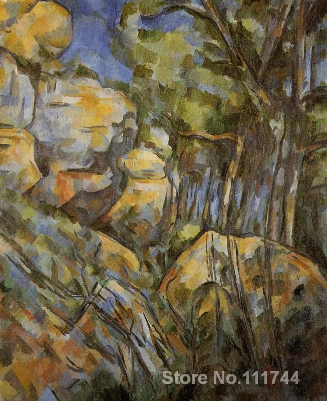 artwork of Paul Cezanne Rocks near the Caves above the Chateau Noir modern paintings Landscape handmade High Quality
