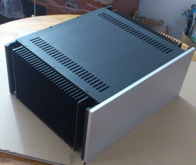 QUEENWAY Promotions Aluminum chassis A50 improved version a amplifier circuit chassis KSA50 390mm*480mm*210mm 390*480*210mm