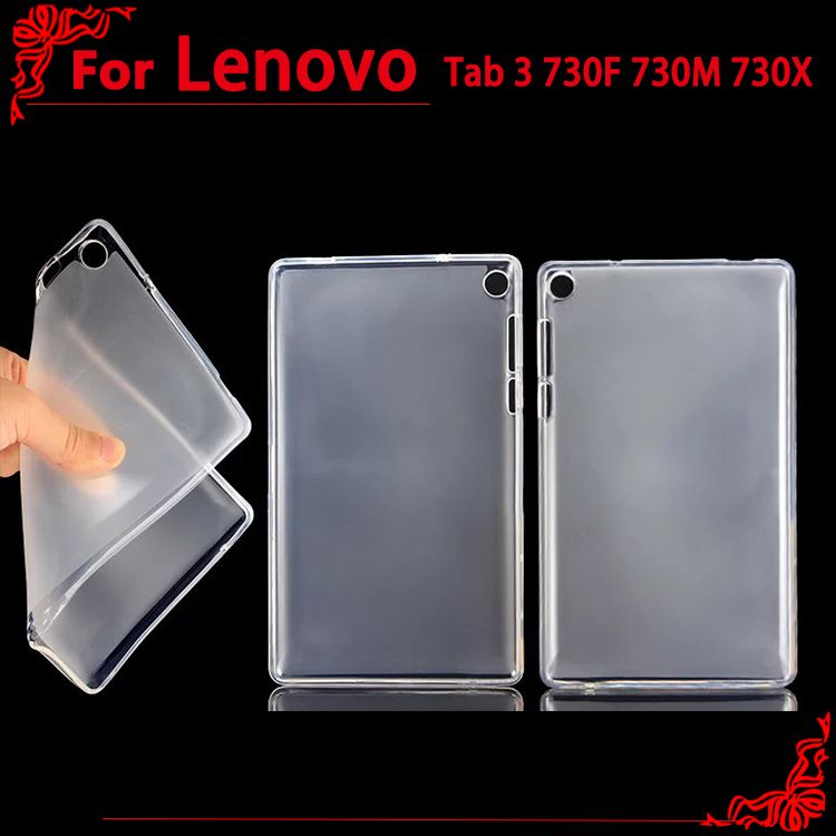 Ultra-thin soft Transparent frosted TPU Case Cover for Lenovo Tab3 7 TB3-730F / 730M 7inch tablet pc