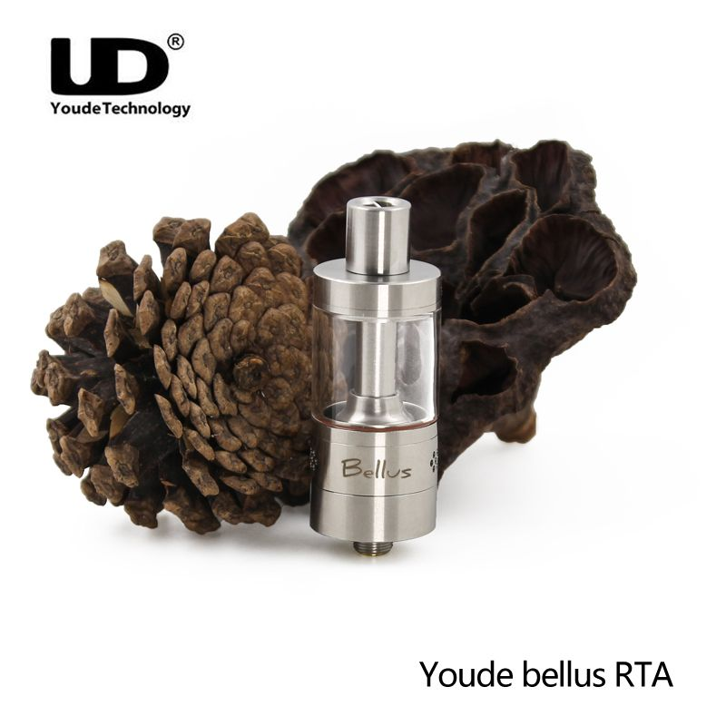 Original UD Youde bellus RTA tank top filling sub ohm Tank Electronic cigarette atomizer Vape Tank RTA For Vape Box Mod