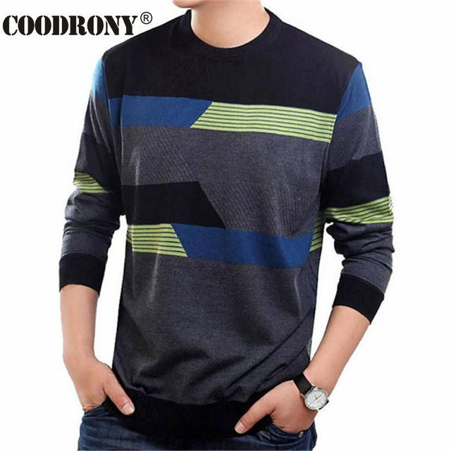 COODRONY O-Neck Sweater Men Clothing Mens Sweaters Wool Cashmere pullover Men Brand Pull Homme Casual Dress Long Sleeve Shirt 19