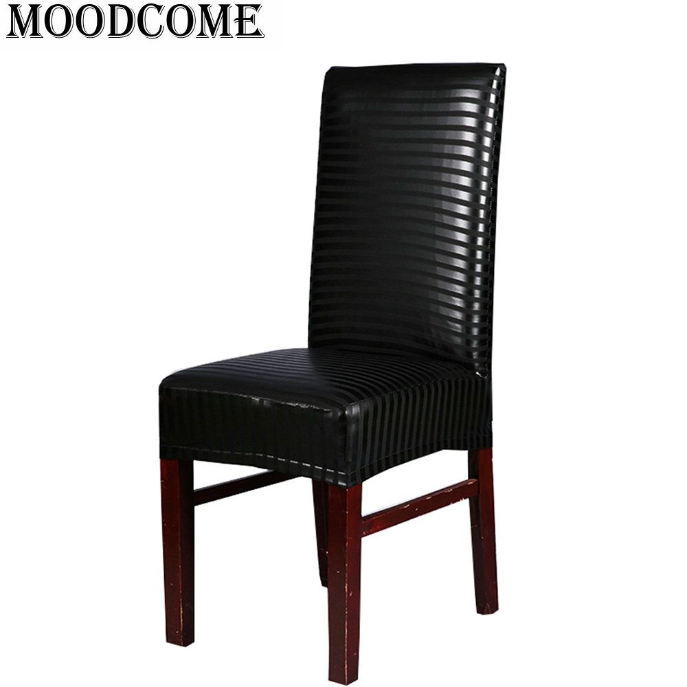 leather pu chair cover Elastic  stoelhoezen eetkamer new fashion Spandex Office Chair Cover