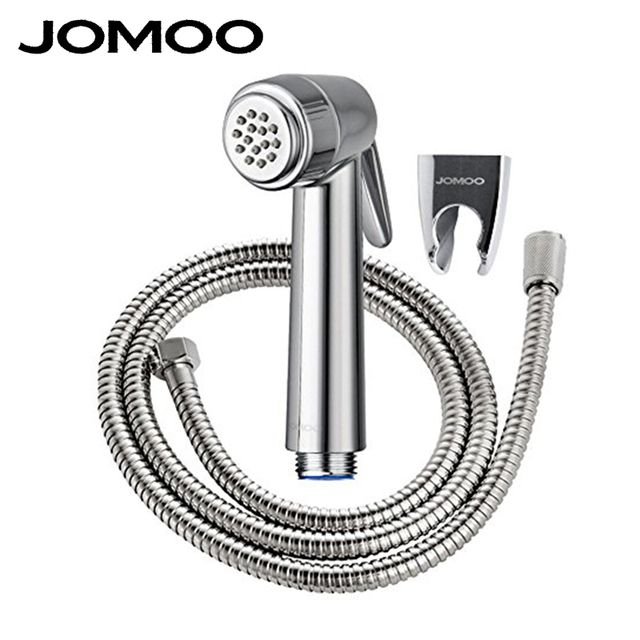 JOMOO ABS Chrome Plated Handheld Bidet Spray Set  With Wall Bracket And 1.2M Stainless Steel Hose toilet ass hower jet set
