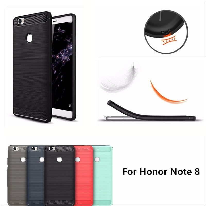 "6.6"" For Huawei Honor Note 8 Case Carbon Fiber TPU Armor Mobile Phone Bag Silicone back Cover Accessory Capa For Honor Note8"