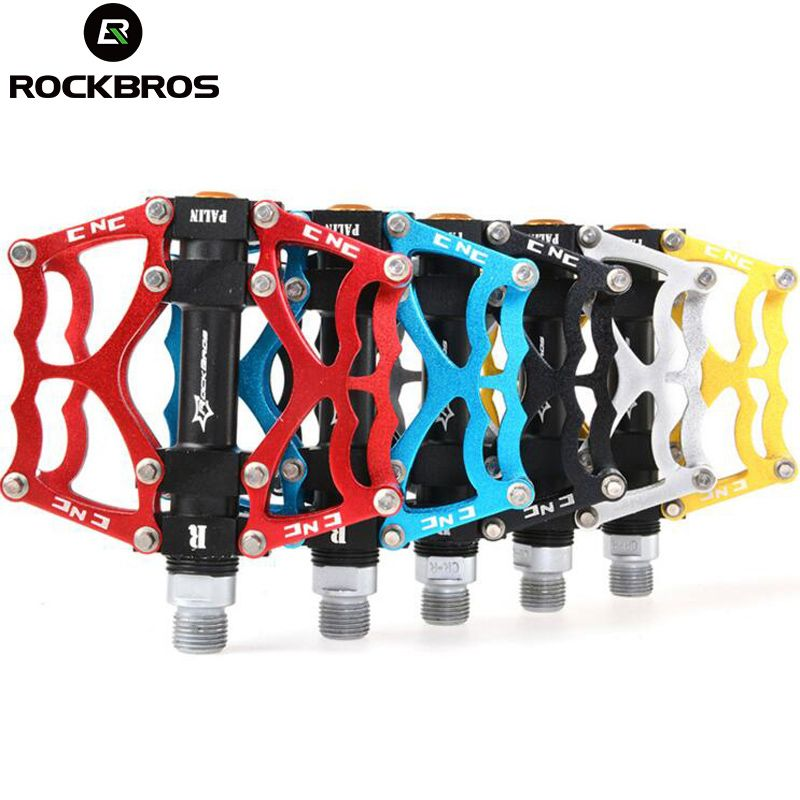 ROCKBROS Mountain Bike Pedals MTB Road Cycling Aluminum Alloy Bearing Pedals Ultralight High Quality Bicycle Pedals Parts