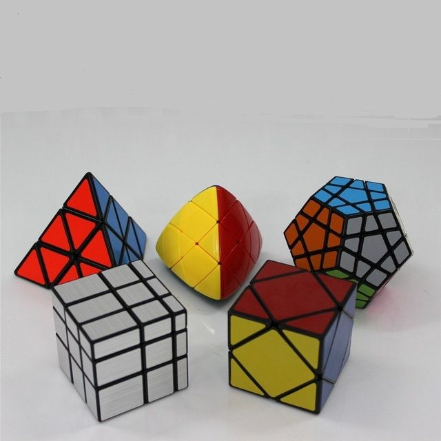 ShengShou Specific Speed Cube Puzzle Sets (Include Skewb, Megaminx Dodecahedron, Pyraminx ,mirror, Mastermorphix)--Pack of 5