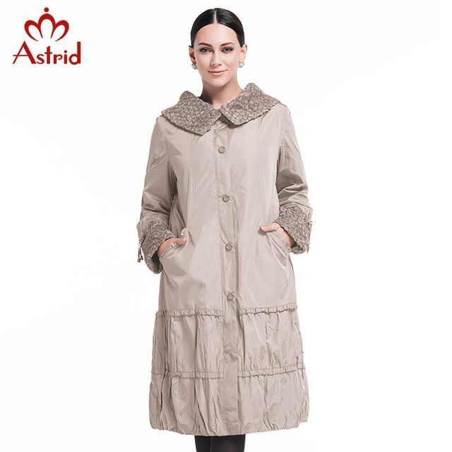 Astrid 2017 New Spring Fashion Casual Women's Trench Coat Long Outerwear Purple Clothes For Lady Good Quality AS-8162