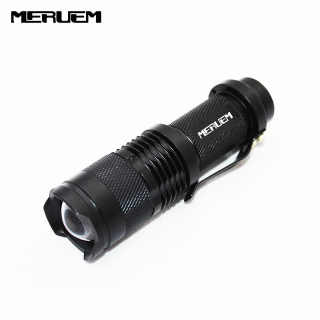 high-quality Portable Light  Mini Black CREE 2000LM Waterproof LED Flashlight 3 Modes Zoomable LED Torch penlight