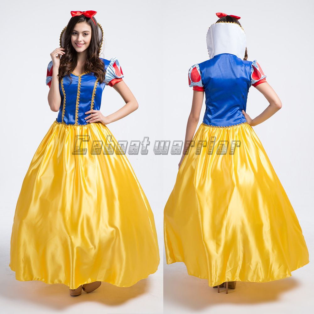 New Dress Princess Snow White Adult Costume Cosplay Girls Fancy Party  Halloween