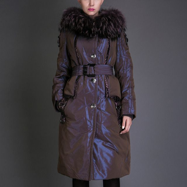 Basic Editions Autumn Long Sleeve Metallic Silk Fabric Cotton Coat Jacket Collar Parka - 8S067