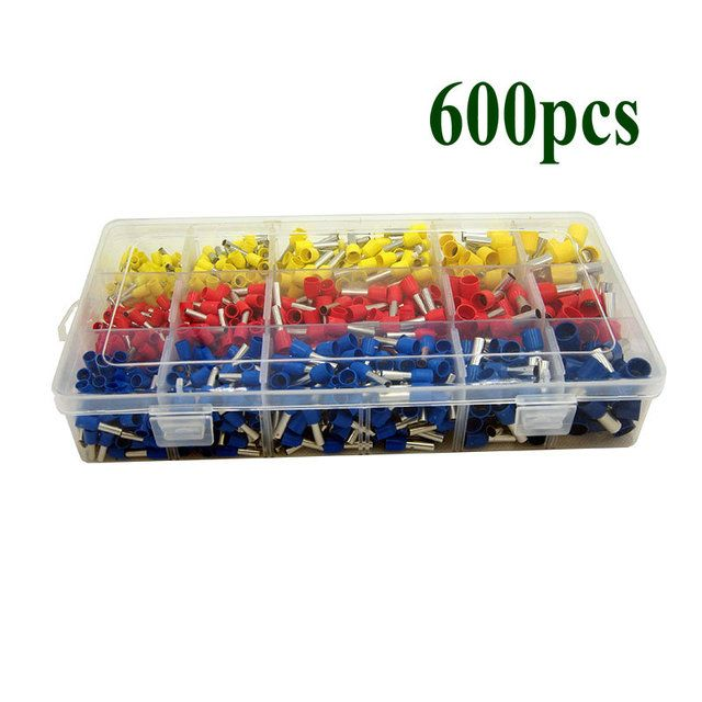 Free shipping 600pcs Crimp terminal for 14A.W,G~6A.W.G 2.5Mm2~16Mm2 Connector Insulated Cord Pin Wire terminals connector