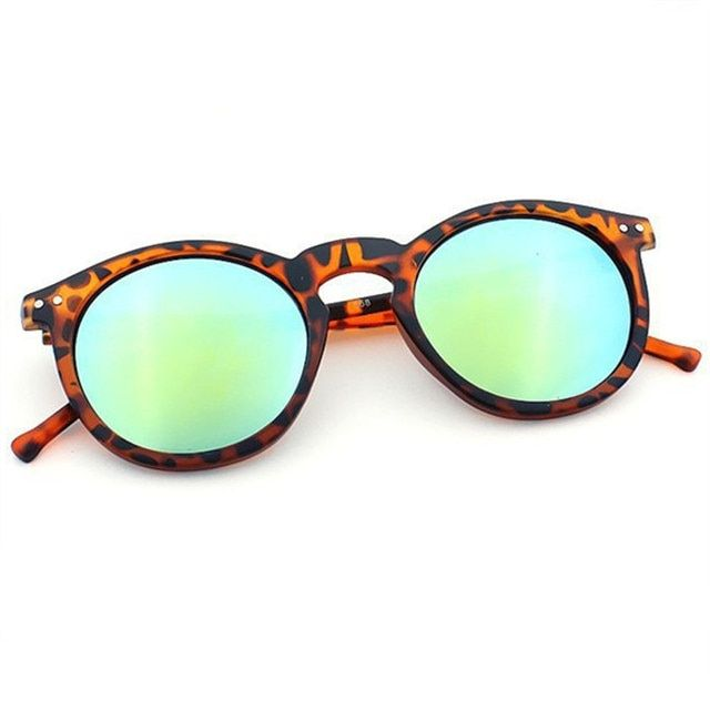 Men Women Round Cat Eye Sunglasses Brand Designer Vintage Keyhole Mirror Multi Color Glasses Male Feminino