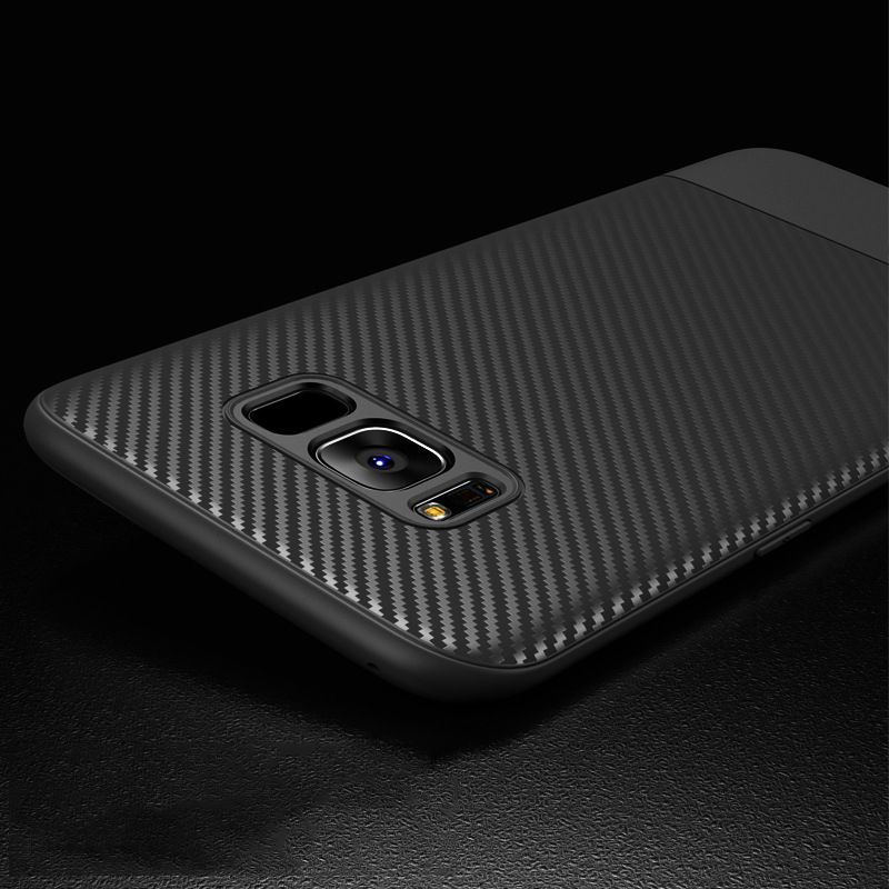 Toraise For Samsung galaxy S8 Case Carbon Fiber Ultra Thin Silicone Soft TPU Case for Samsung S8 Plus Phone Cover for Galaxy S8