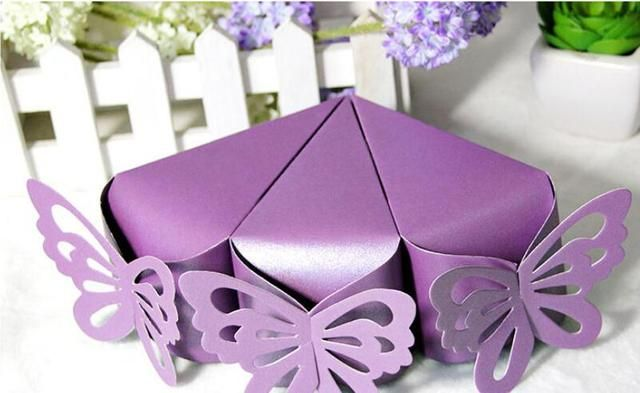 butterfly paper candy chocolate gift box for wedding birthday tea party favor Wholesale