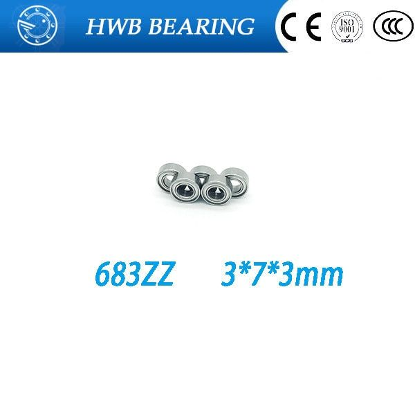 Free shipping 100 PCS 683zz 683 ZZ outer ring groove ball bearings 683Z (3 * 7 * 3mm) slotted bearing outer ring