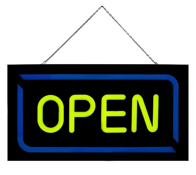 43*23cm Bright Led Open Sign Flashing Animated Neon Sign for Business Cafe Bar Pub Coffee Shop Store Wall Window Display