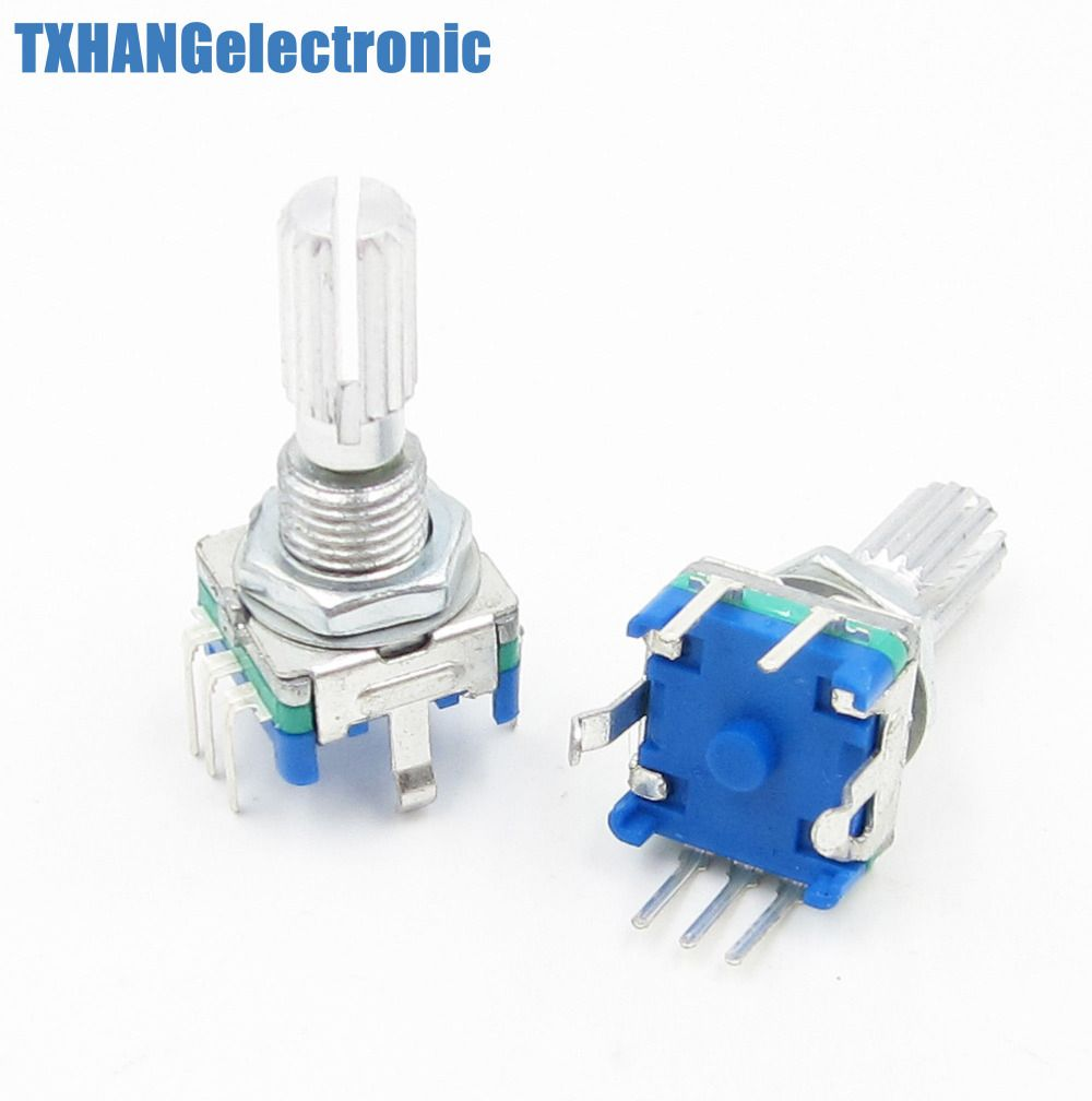 2pcs Rotary encoder with switch EC11 Audio digital potentiometer 20mm code switch