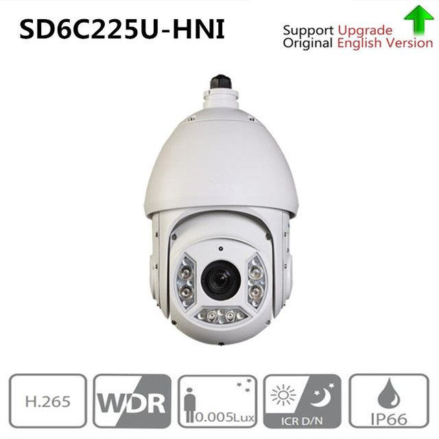 Original English ahua 2Mp Full HD 25x Starlight IR PTZ camera SD6C225U-HN IR Distance up to 150m,SD6C220T-HN,DH ptz