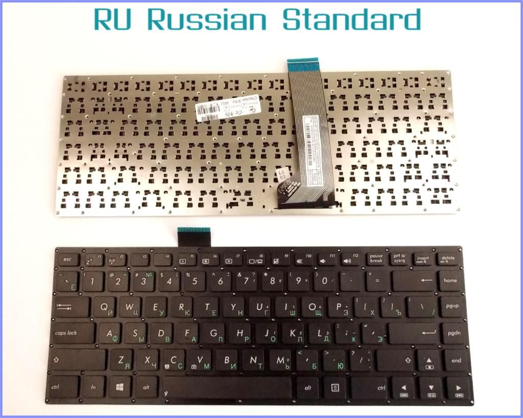 Russian RU Version Keyboard for ASUS VivoBook S400 S400C S400CA S400E AEXJ7U01110 Laptop No Frame