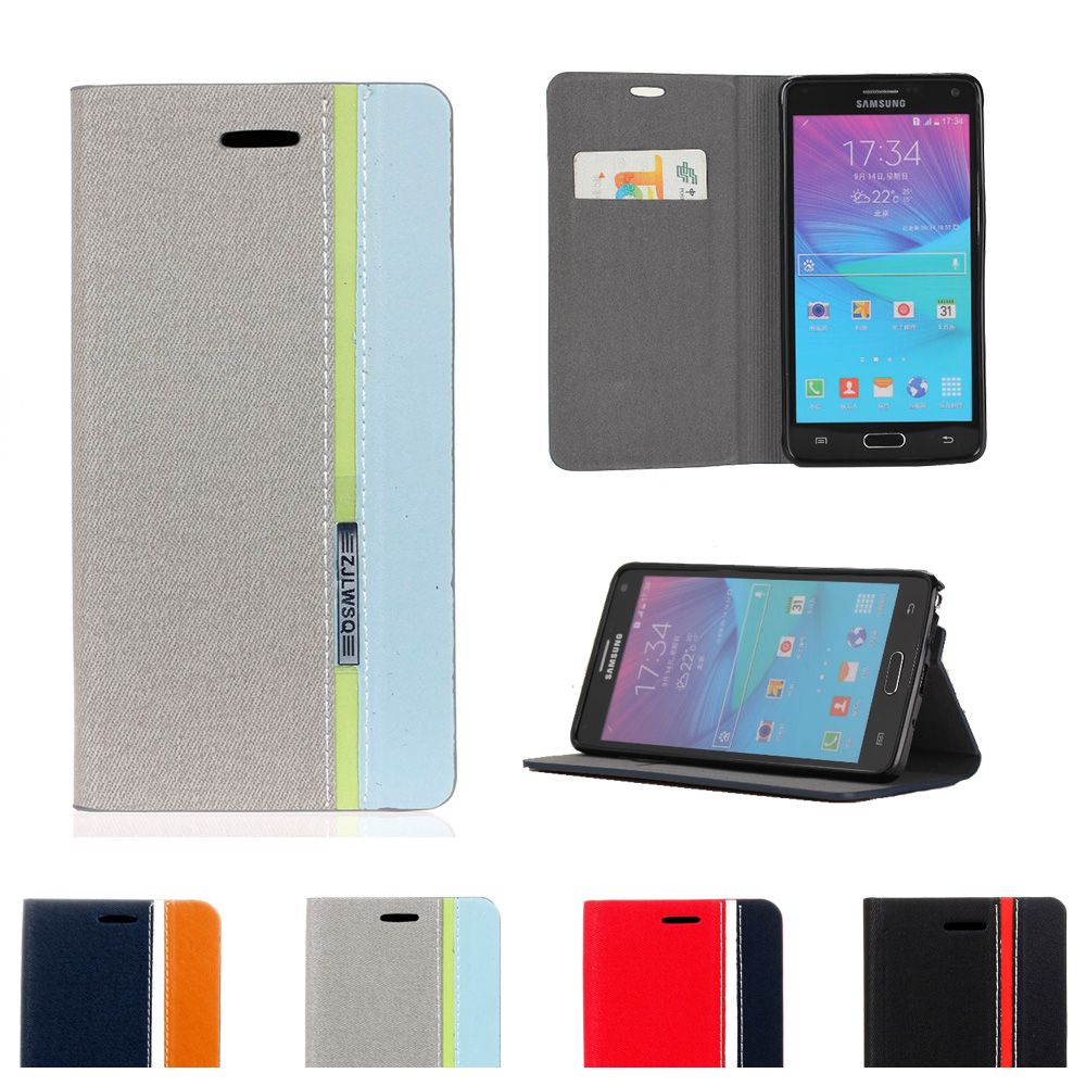 Flip Case For Samsung Galaxy Note 4 N910F N910C N910G N910T Phone Leather Cover for Note4 SM-N910F SM-N910T SM-N910G SM-N910F