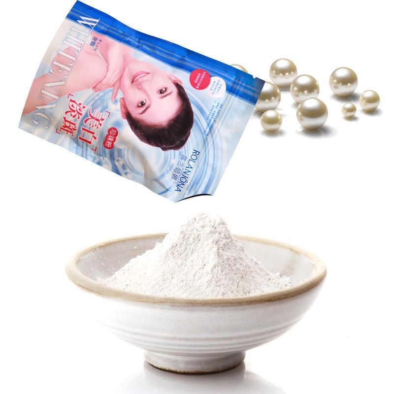250g/bag Pearl Powder Mask DIY Whitening Brighten Anti Aging Remove Acne Spots Speckle Blackhead Shrink Pores Facial Mask A01659