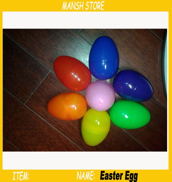 55*80mm Big Plastic Easter Egg Solid Color Empty Plastic Egg Capsule For Easter /Gift /Party Decoration 50pcs/Lot Free Shipping