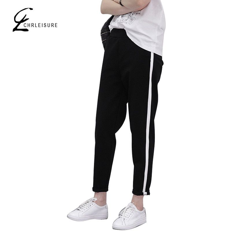 CHRLEISURE S-XXL Women's Harem Pants  Fashion  Loose Slim Pants Fashion Plus Size Elastic Female Pants Trousers for Women