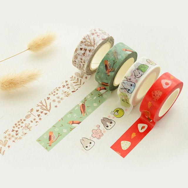 1x Many optional color washi tape children DIY album Diary decoration masking tape stationery scrapbooking tool Free shipping