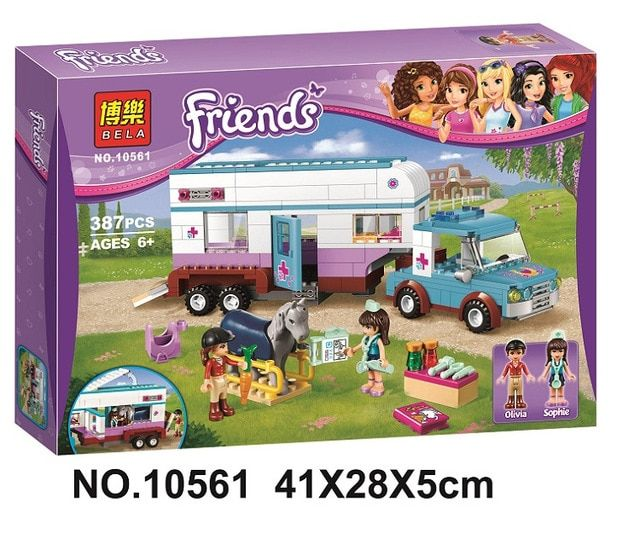 Friends Heartlake Pet Hospital Building Blocks Sets Diy Bricks Christmas gifts Toy Compatible Lepin Friend For Girls BELA 10561