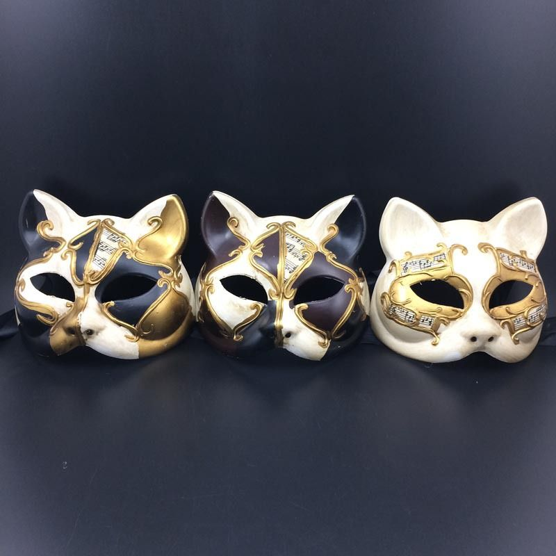 Restoring ancient ways of high-grade plastic cat mask Children  Halloween party mask