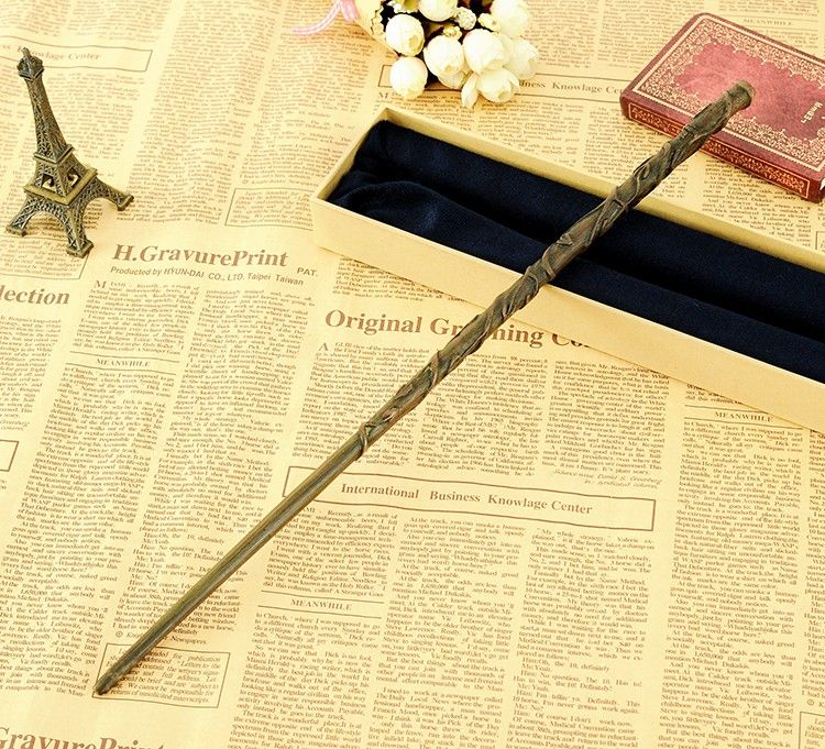 2018 Metal Core HP Magical Wand  Newest Quality Deluxe  COS Hermione Magic Wands/Stick with Gift Box Packing