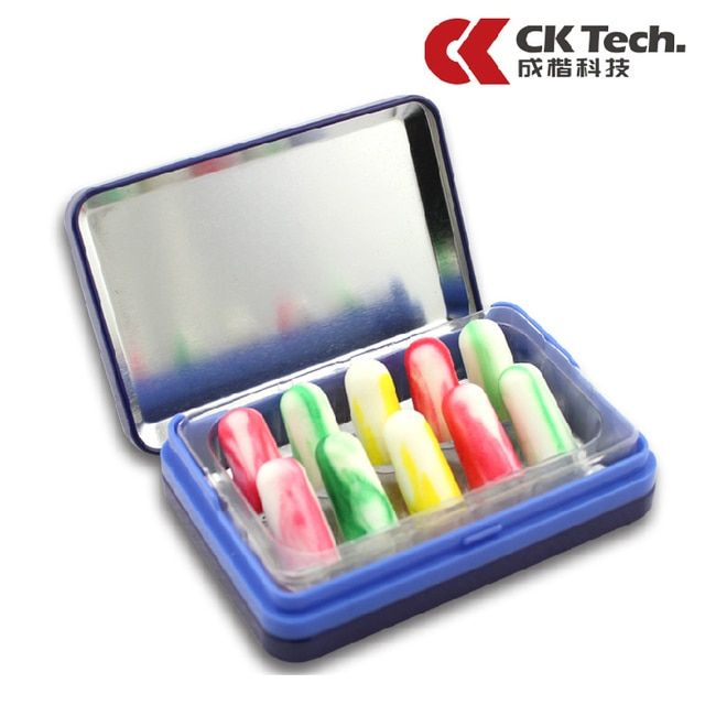 CK Tech Foam Soft Ear Plugs For Noise Reduction Earplugs Anti-noise Sleeping Study Plugs For Travel  Noise Reduction 2046