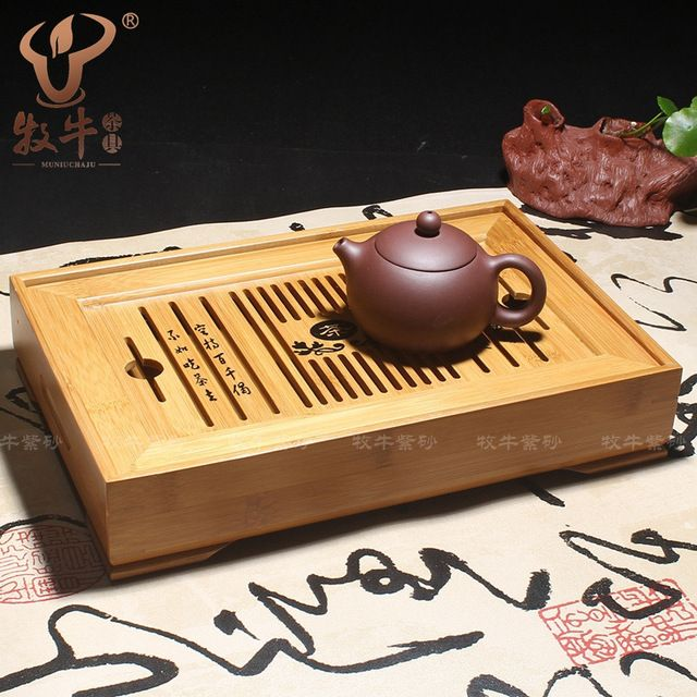 Kung Fu tea tea wholesale 31*20*5.5 bamboo water storage type tea tea shop wholesale bamboo special offer