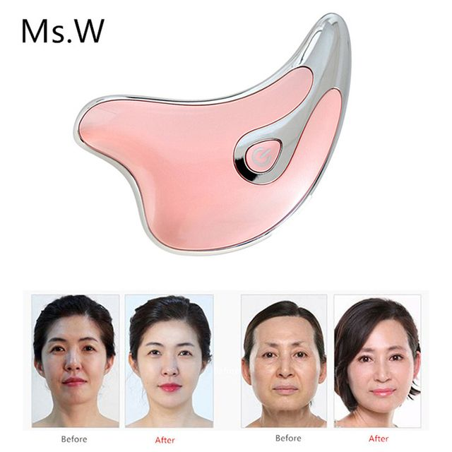 Ms.W V Face Line 2 Mold Heating Face Massage Spa Skin Care Machine Chin Cheek Slim Lift Up Anti Wrinkle Remove Edema 12000/min