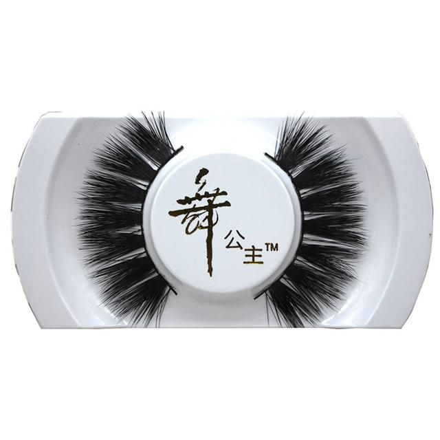 1 Pair Handmade Mink Hair Eye Lashes Natural Long Thick Dense False Eyelashes Crisscross Lady Party Banquet Xmas Gift