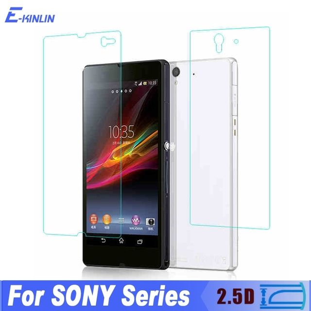 0.3MM Front + Back 2.5D Toughened Film Screen Protector Glass For Sony Xperia Z L36H c660x c6603 C6602 Tempered Glass