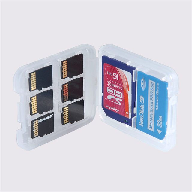4pcs Best Price 8 in 1 High Quality Plastic Micro for SD SDHC TF MS Memory Card Storage Case Box Protector Holder