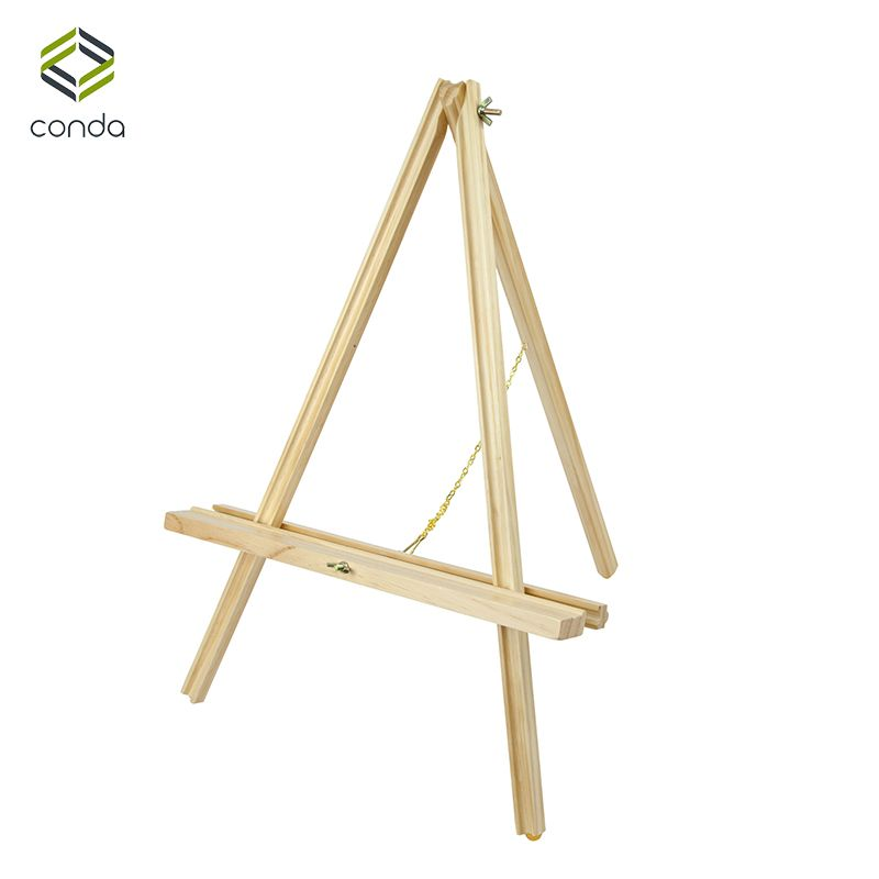 Conda Adjustable 22 inch Wooden Easels Portable Beech Wood A-Frame Desktop Easel Advertisement Exhibition Tripod Painting Stand